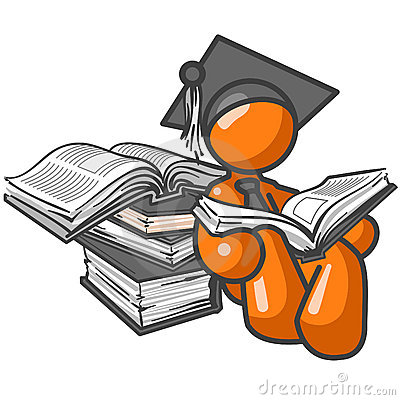 Orange man graduate figure