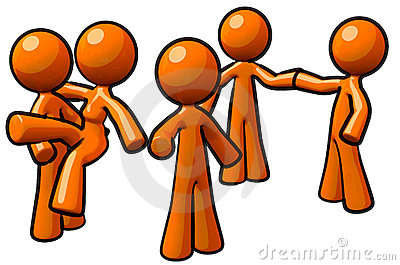 Orange Man Group Team Workers