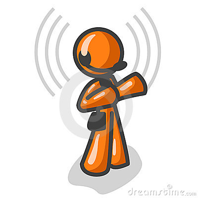 Orange Man with headset
