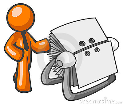 Orange man and Rolodex