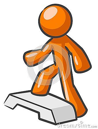 Orange man on stepper