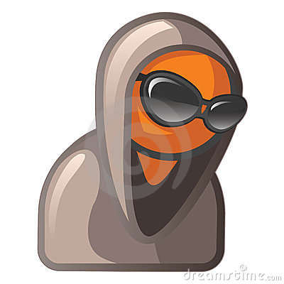 Orange Man with Sunglasses and Hoodie