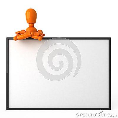 Free Orange Mannequin Royalty Free Stock Image - 2590966