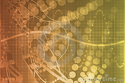 Orange Medical Science Futuristic Technology Abstr