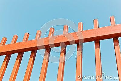 The Orange Metallic Fence