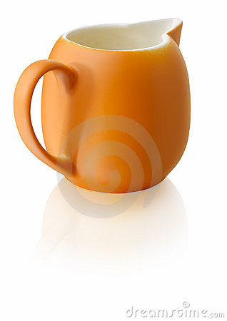 Orange milkjug