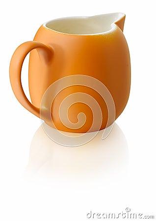 Orange milkjug