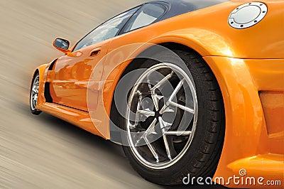 Orange modern car