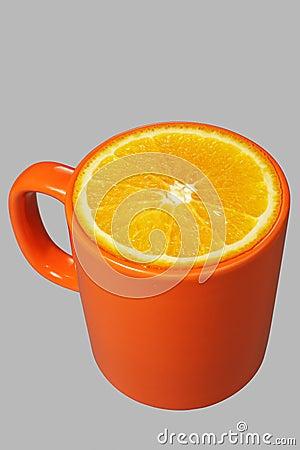 Orange mug and orange