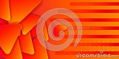 Orange music abstract Stock Photo