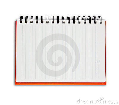 Orange Note Book Royalty Free Stock Photo - Image: 21316525