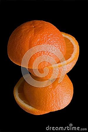 Free Orange On Mirror Royalty Free Stock Photos - 2244568