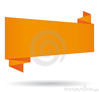 Free Orange Origami Banner. Royalty Free Stock Images - 19792529