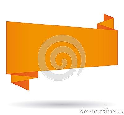 Orange origami banner.