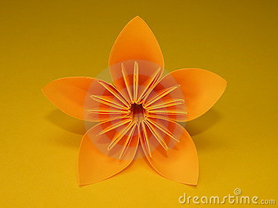 orange origami blume stockbilder bild 16546744. Black Bedroom Furniture Sets. Home Design Ideas