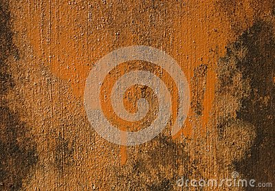 Orange painted grunge wall