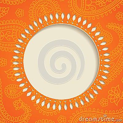 Orange paisley frame