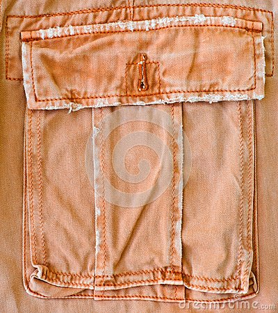 Orange pant s pocket