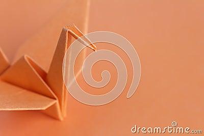 Orange paper bird
