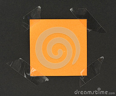 Orange paper note