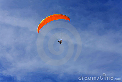 Orange paraglide