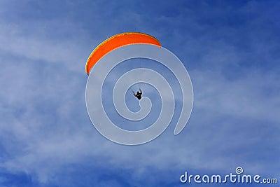 Orange paraglide