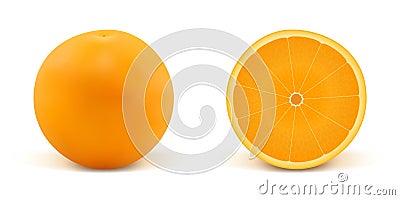 Orange and part of orange