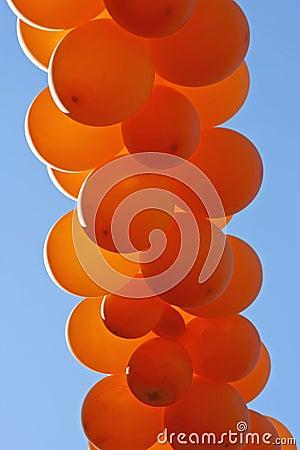 Orange  party balloons