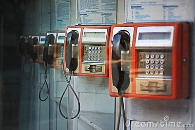 Orange payphones