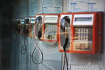 Orange payphones