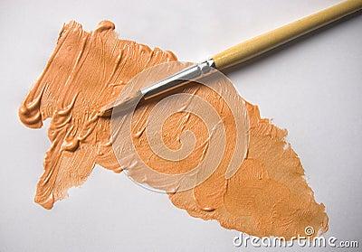 Orange Pearl Acrylic colour