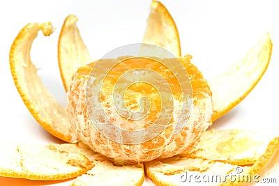 Orange with peel