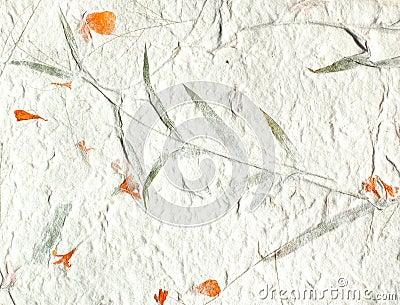 orange petal handmade paper