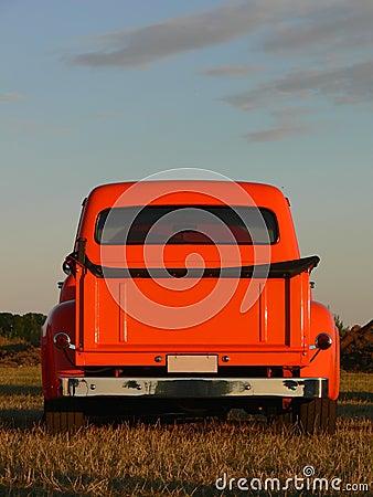Orange Pick Up Truck