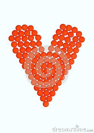 Orange pills of love