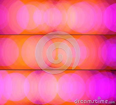 Orange-pink banners