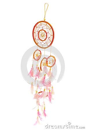 Orange and pink dreamcatcher