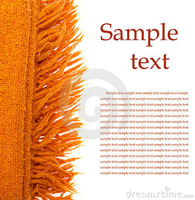 Orange plaid wool over white