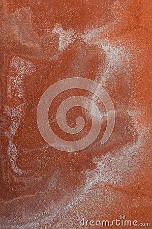 Orange plastered wall