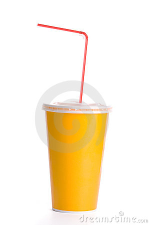 Orange plastic cup