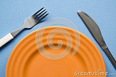 Orange plate fragment