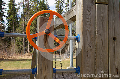 Orange Playground Steering Wheel