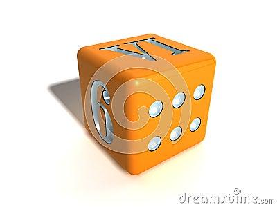 Orange playing bone