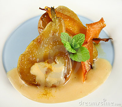 Orange Poached Pears 2