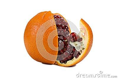 Orange with pomegranate inside