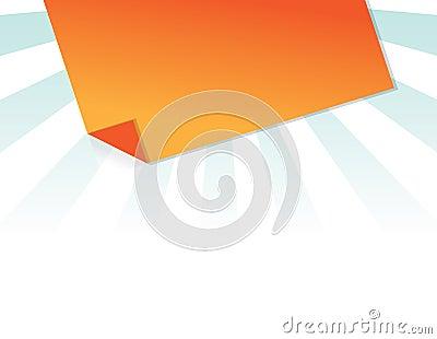 Orange post it