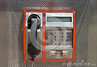 Orange public telephone