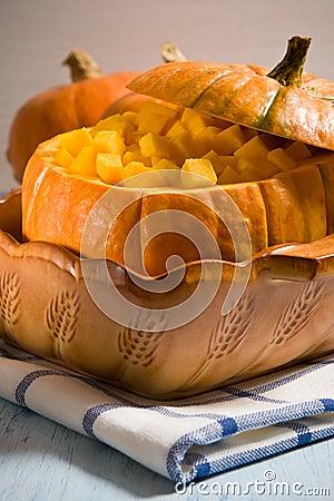 Orange pumpkin pan