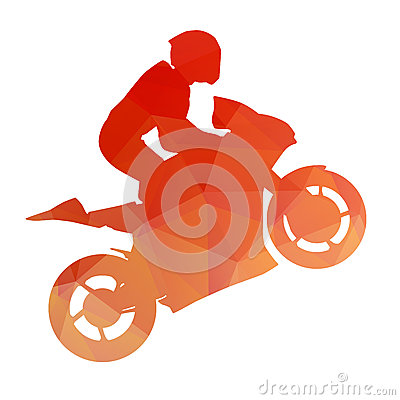 Free Orange Racing Bike On The Rear Wheel Stock Image - 49521221