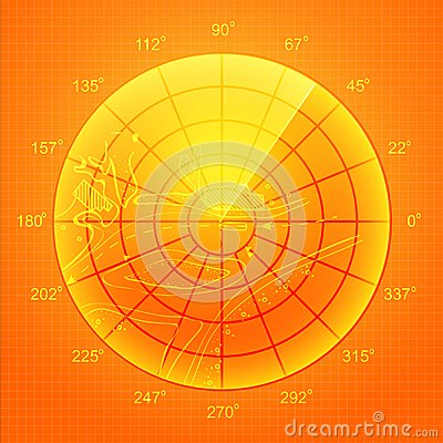 Orange radar screen.